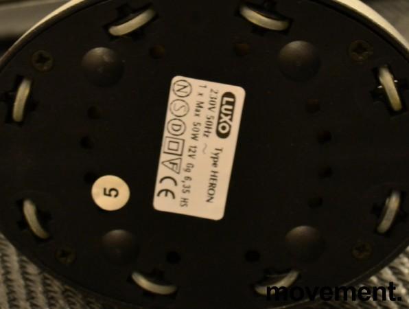 Luxo Heron skrivebordslampe i grått, Design: Isao Hosoe, pent brukt bilde 4