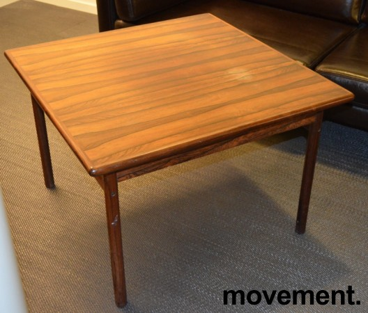 Loungebord / sofabord i palisander, 75x75cm, høyde 51cm, RETRO / VINTAGE bilde 2