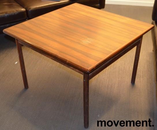Loungebord / sofabord i palisander, 75x75cm, høyde 51cm, RETRO / VINTAGE bilde 1
