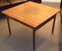 Loungebord / sofabord i palisander, 75x75cm, høyde 51cm, RETRO / VINTAGE