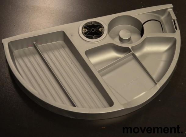 Penneholder for montering under skrivebord, grå eller sort, pent brukt bilde 1
