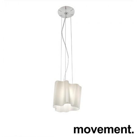 Artemide logico mini taklampe / pendellampe i hvitt glass, Ø=28cm, pent brukt bilde 1