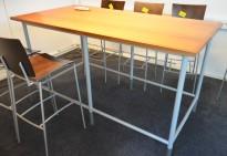 Barbord / ståbord i valnøtt, 200x100cm, høyde 107cm, pent brukt