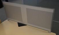 Bordskillevegg i aluminium, 90x40cm, pent brukt