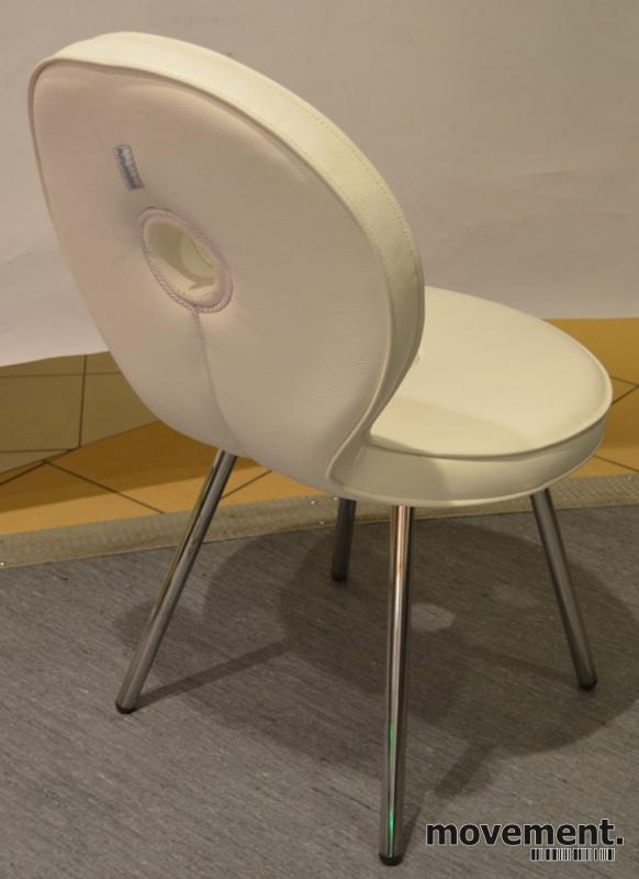Adrenalina Sediola stol for restaurant /kafé / spisestue i hvitt ...