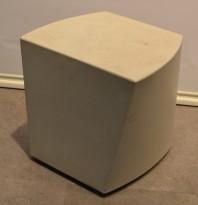 Pall / Puff Boom fra Steelmobil, hvit plast, pent brukt