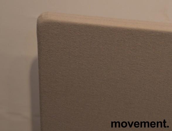 Bordskillevegg / bordskjerm i grått stoff, 150x66cm, pent brukt bilde 2