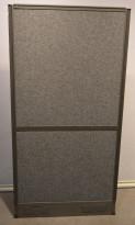 EFG skillevegg i grått stoff med grå ramme, 80x159cm, EFG Screen wall, pent brukt