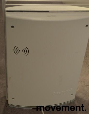 Alarmportal / alarmantenne Checkpoint Classic Style i hvit plast / plexi, høyde 155cm, alarmer følger med, pent brukt bilde 3