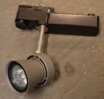 Skinnespot, Micro Conos 50W for skinne, kan benytte LED, pent brukt