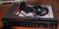 Sentral / opptaker for overvåkningskameraer, HIKVision DS-7208HVI-ST/SN, 8 kanals, pent brukt