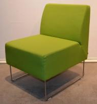 VAD Pivot 1-seter sofa / loungestol i grønt stoff, bredde 56cm, brukt
