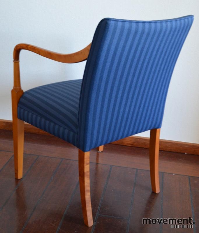 Topnotch Hødnebø stol i blått stoff / gyldenbjerk, loungestol / besøksstol QP-55