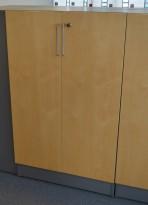 Martela Combo ringpermreol med dører i grått / bjerk,3H, 126 cm H, pent brukt