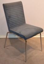 Offecct Quick besøksstol / konferansestol i grått mikrofiberstoff, krom ben, pent brukt