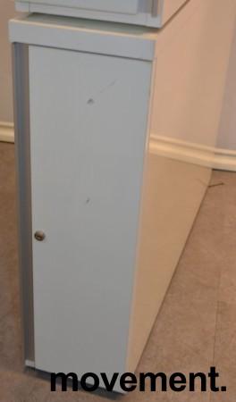Tårnskap / skuff for småoppbevaring i hvit høyglans fra Ragnars, høyre, bredde 20cm, høyde 65cm, pent brukt bilde 1