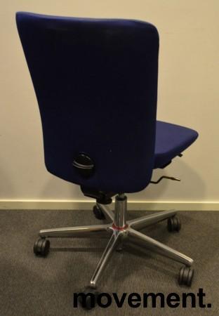 Savo Apollo konferansestol / kontorstol i blått stoff, pent brukt bilde 2