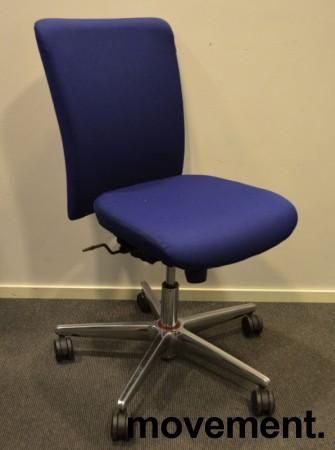 Savo Apollo konferansestol / kontorstol i blått stoff, pent brukt bilde 1