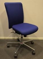 Savo Apollo konferansestol / kontorstol i blått stoff, pent brukt