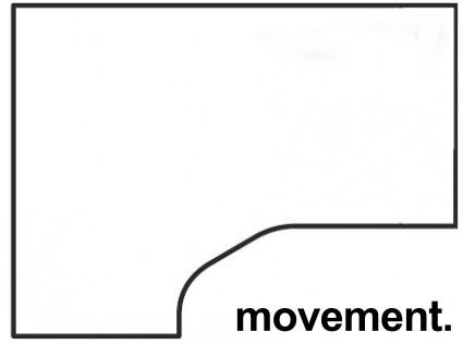 Bordplate, Hjørneplate skrivebord, venstresving, 180x120cm i hvitt, NY/UBRUKT bilde 1