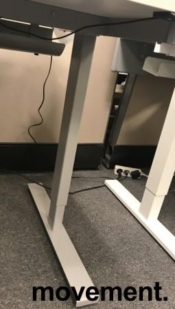 Linak Grått elektrisk hevsenk-skrivebord / understell til skrivebord, 140-200cm bredde, NY/UBRUKT bilde 4