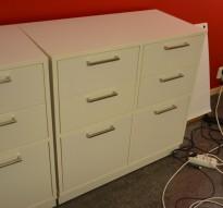 Skjenk / mediemøbel / oppbevaring til konferanserom med skuffer i hvitt fra Skandiform, 6 skuffer, bredde 80cm, høyde 82cm, pent brukt