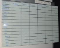 Whiteboard i grønnfrostet glass, 148x100cm, NB! Kun plate, ikke veggfester av noe slag.