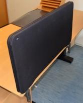 Bordskillevegg fra Lintex i sort, 80x40cm, pent brukt