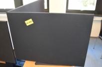 Bordskillevegg fra Edsbyn i sort, 90x65cm, pent brukt