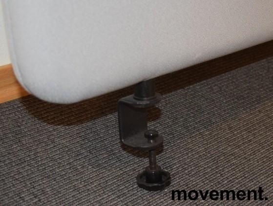 Bordskillevegg i grått, støydempende, 180x60cm, pent brukt bilde 2