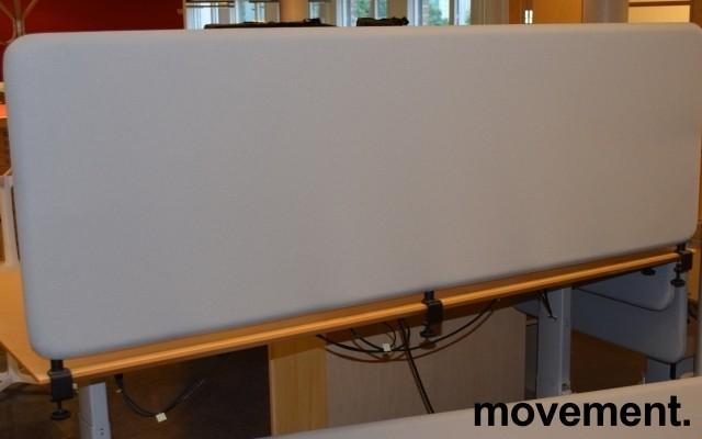 Bordskillevegg i grått, støydempende, 180x60cm, pent brukt bilde 1