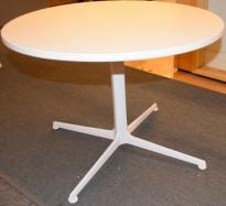 Lite loungebord fra Arper i hvitt, Ginger Ø=70 H=50, Design: Jean-Marie Massaud, pent brukt