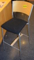 Barkrakk i bjerk / grått, 80cm sittehøyde, pent brukt