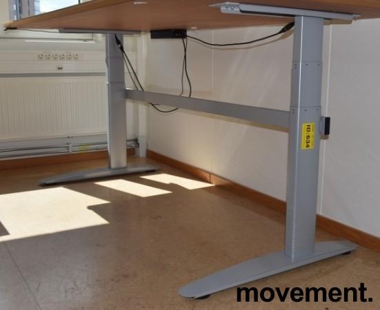 Linak elektrisk hevsenk-understell i grått, 172cm bredde, passer 180plater og større, pent brukt