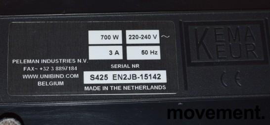 Unibind S425 innbindingsmaskin, pent brukt bilde 3