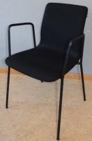 Møteromsstol / besøksstol fra EFG, modell NOVA i sort, pent brukt