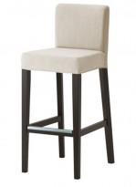 Barkrakk / barstol fra Ikea, modell Henriksdal i brunsvart / lys beige, 74cm sittehøyde, pent brukt
