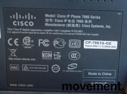 Cisco IP-telefon Unified IP-phone CP7961G-GE, pent brukt bilde 3