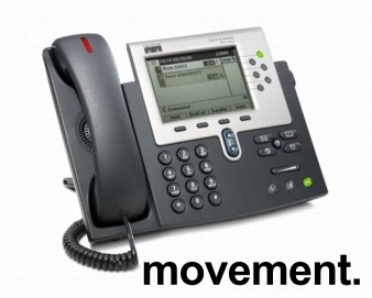 Cisco IP-telefon Unified IP-phone CP7961G-GE, pent brukt bilde 1