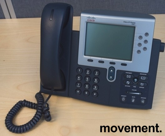 Cisco IP-telefon Unified IP-phone CP7961G-GE, pent brukt bilde 2