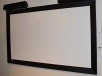 Lerret med ramme fra Euroscreen, 220x133cm, pent brukt