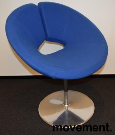 Loungestol i blått / krom fra Artifort, modell: Little Apollo, Design: Patrick Norguet, pent brukt bilde 1