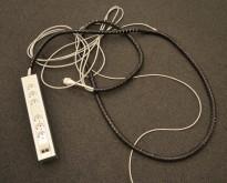 Strømfordeler / forgrener / skjøteledning fra Rehau med 2 nettverkspunkter CAT7 og 6 stk stikk, pent brukt