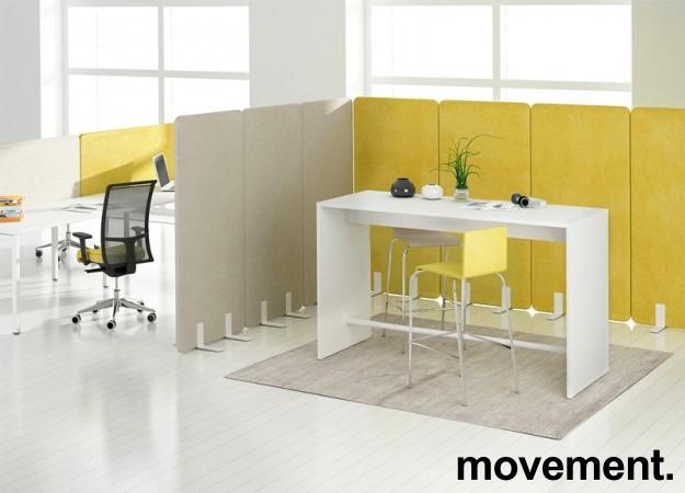 Ståbord / bardisk for sosial sone i hvitt, 180x70, NY/UBRUKT bilde 2