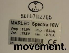 Båttilbehør: Solcellepanel Marlec Spectra 10W / 12V, step-on, pent brukt bilde 2