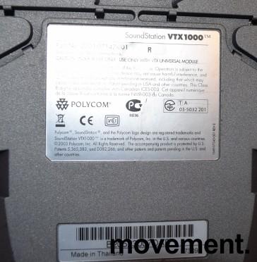 Konferansetelefon fra Polycom, modell Soundstation VTX1000, pent brukt bilde 2