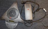 Konferansetelefon fra Polycom, modell Soundstation VTX1000, pent brukt