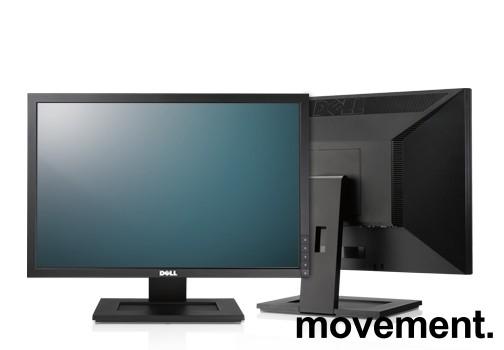 Flatskjerm til PC: Dell E2210f, 22toms, 1680x1050, VGA/DVI, pent brukt bilde 1