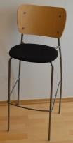 EFG Barkrakk i bjerk/grått/sort stoff, 76,5cm sittehøyde, pent brukt