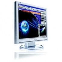 Philips 19toms LCD skjerm 190S7FS (190S)  i sølv, 1280x1024, VGA/DVI, pent brukt